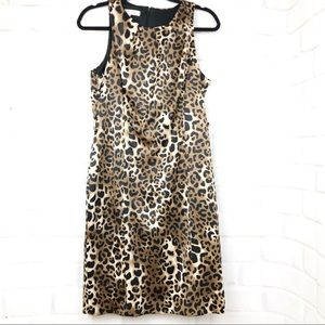 Evan picone satin leopard dress